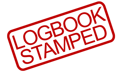new car log book service stamped