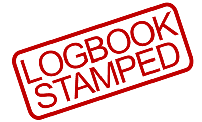 new car log book service stamped b