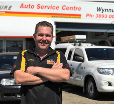 Mat in front of  Future Auto Wynnum