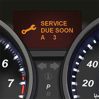 Car service due indicator